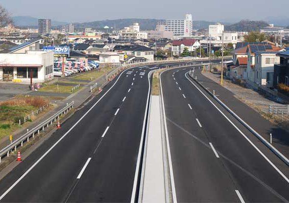 国道190号小野田交差点改良工事