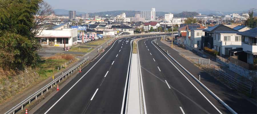 国道190号小野田交差点改良工事 完成