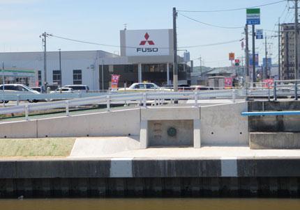 中川水管橋下部工建設工事(新東割橋)(右岸)