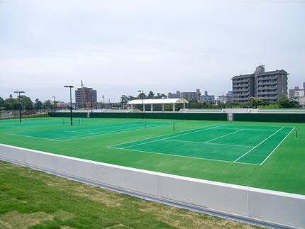 宇部市中央公園テニスコート整備工事